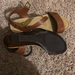 Ralph Lauren NEW brown sandals size 7.5